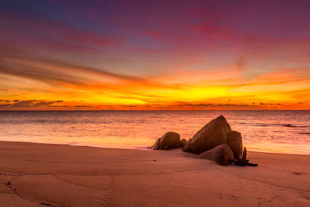 sunset at Promthep Cape in Phuket, southern Thailand Stock Photo