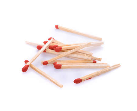 matches isolated on white Stock Photo