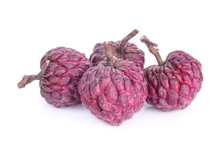 purple custard apple isolated on white