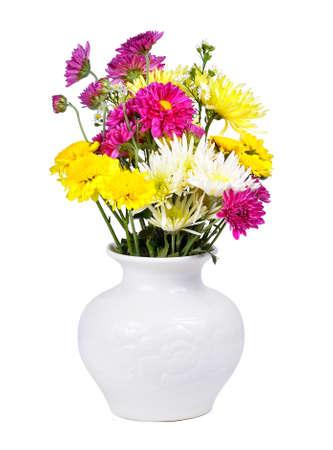 白で隔離の花瓶 写真素材