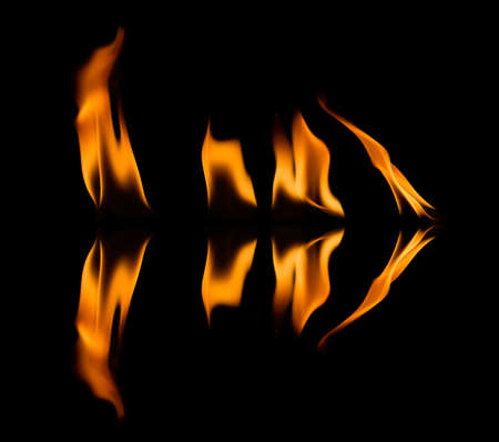 abstract fire: Fire abstract and flames shapes isolated on a black