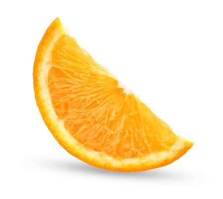 slice fresh orange isolated on white background