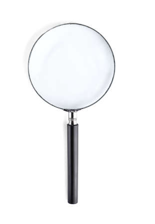 Magnifier or Magnifying glass isolated on white background.