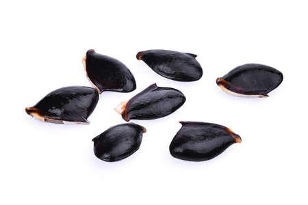 padilla: sapodilla seeds isolated on white background Stock Photo