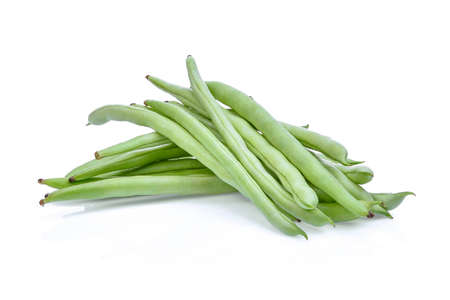 snap bean: french beans isolated on white background
