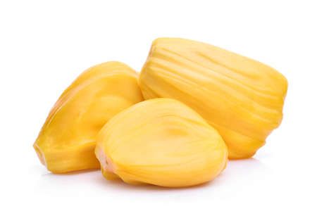 ripe jackfruit isolated on white background Stock Photo