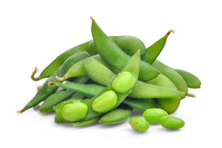 枝豆は、白い背景で隔離