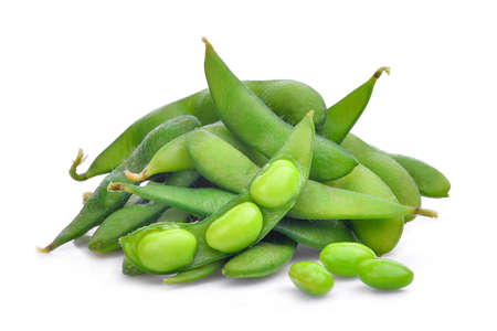 edamame beans isolated on white background