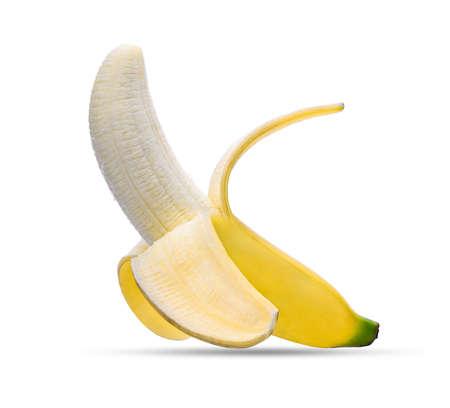 banana skin: peeled banana isolated on white background