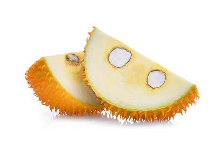 slice of Baby Jackfruit,Gac fruit isolated on white background