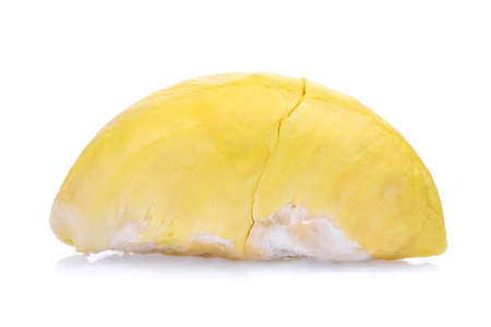 yellow durian ,king of fruits and tropical fruit isolated on white background