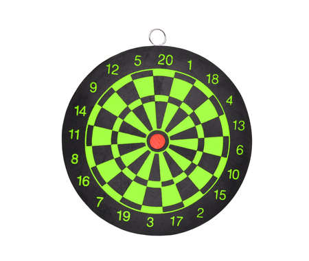 business pitch: new darts board isolated on white background for business target concept