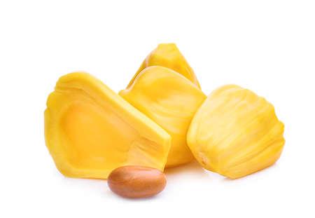 ripe jackfruit isolated on white background Фото со стока