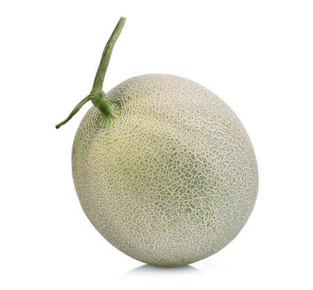 whole of japanese melons, green melon or cantaloupe melon isolated on white background Фото со стока