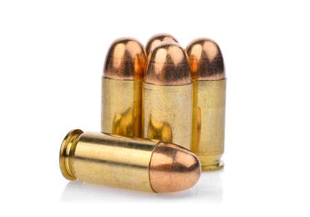 cartridges of .45 ACP pistols ammo, full metal jacket .45 bullet