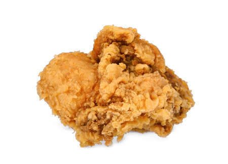crispy kentucky fried chicken isolated on wite background Stock Photo