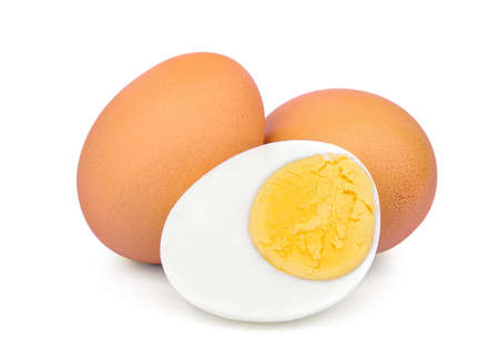 boiled egg isolated on white background Banque d'images