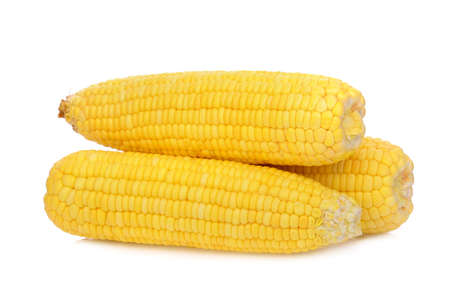 raw corn isolated on white background