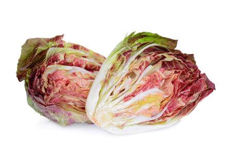 half radicchio vegetable isolated on white background
