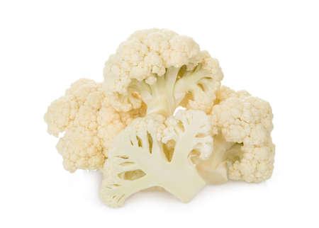 fresh cauliflower vegetable isolated on white background 版權商用圖片