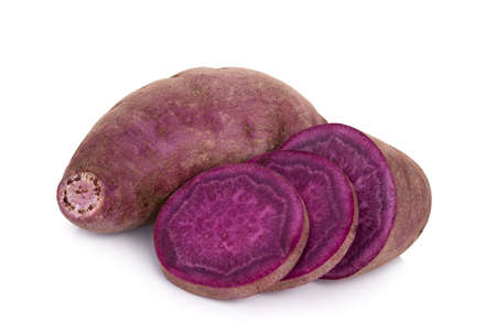 purple sweet potato or yam isolated on white background Standard-Bild