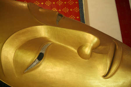 Buddha statue gold especially face Stock Photo - 15451318