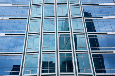 Modern Building Glass Facade Reflex photo