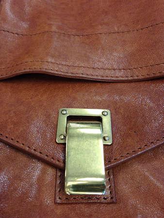 leren tas: Lederen tas close up