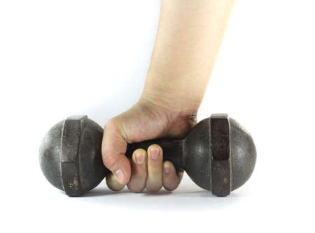 Hand with dumbell photo