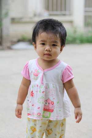 asian child walk toddler photo