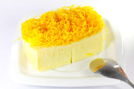 Foythong cake, Gold Egg Yolks Thread Cake photo