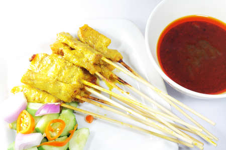 Satay de cerdo photo