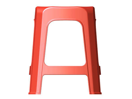 3D plastic stool chair Front Side view Red color photo  sc 1 st  123RF Stock Photos & 3D Plastic Stool Chair Top View Red Color Stock Photo Picture ... islam-shia.org