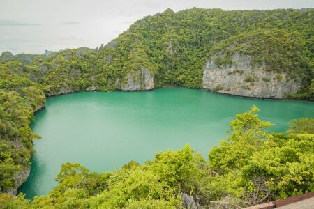 samui thailand september 2016 The lagoon, Mae Koh island, Ang Thong National Marine Park, Koh Samui, Surat Thani province, Thailand.