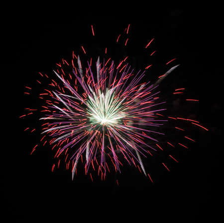 emanate: Fireworks colored the figures during the festival celebrated all over the world  Stock Photo
