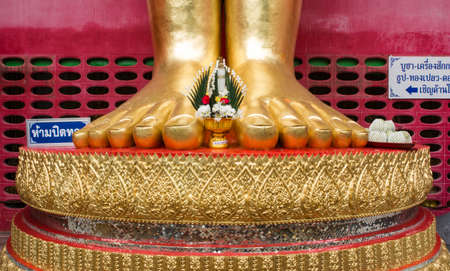 living things: The feet of the Buddha is a large statue of a standing Buddha represents compassion for living things.