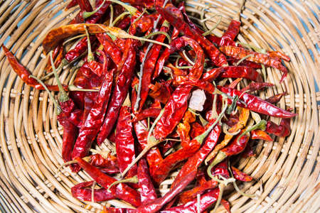 vehement: Dried red chilies, spices, popular in Asia.