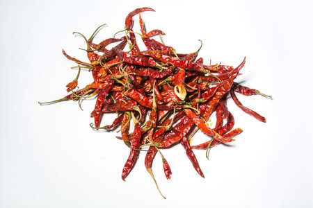 vehement: Dried red chili pepper stored in Thailand.