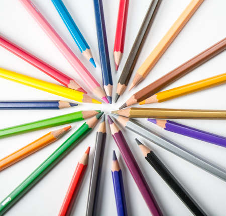 enclave: Crayons enclave always have new ideas. Stock Photo