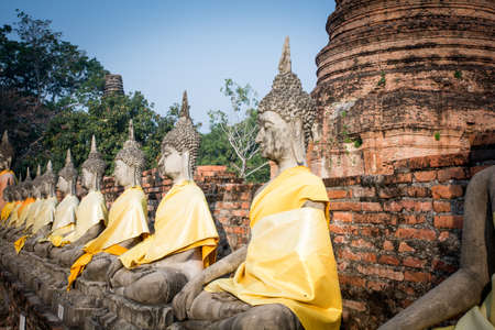 morale: Buddhist sculpture Ayutthaya built to support the morale and the war.