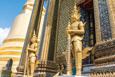 giants: Giants guard, Wat Phra Kaew. Stock Photo