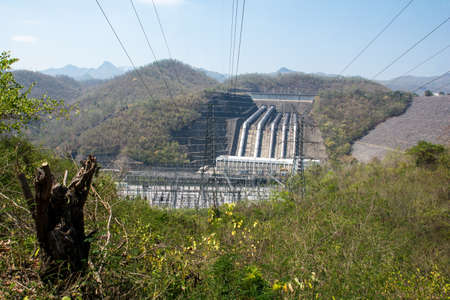 dams: Load power plant from the perspective of large dams taken with journalists.