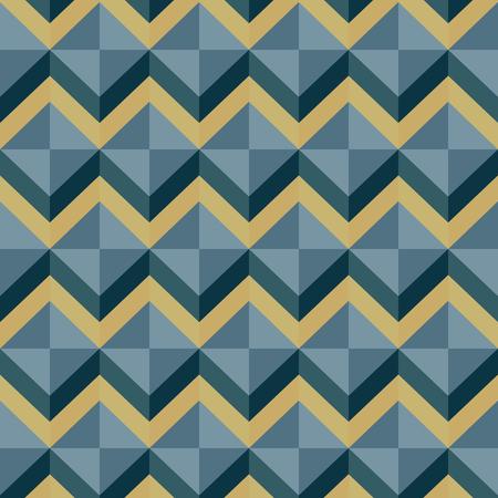 earth tone: earth tone wave zigzag pattern vector Illustration