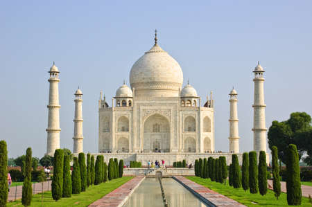 monument in india: Taj Mahal, India Stock Photo