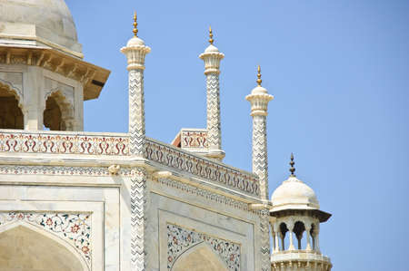 White Marble Taj Mahal, India photo
