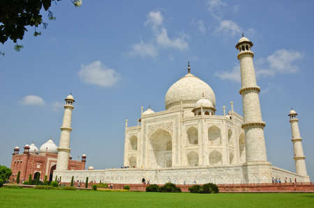 famous place: Taj Mahal, India Stock Photo
