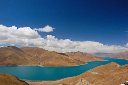 Yamdrok sacred lake in Tibet  photo
