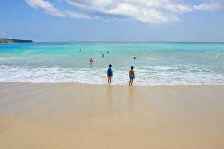 dreamland: Beautiful sand beach, Dreamland beach, Bali Stock Photo