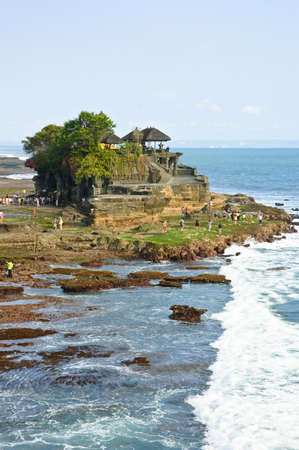 Tanah Lot Temple, hindu sea temple in Bali, Indonesia photo