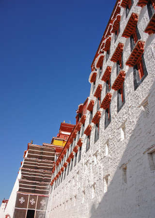 potala: Potala palace in Lhasa, Tibet Editorial